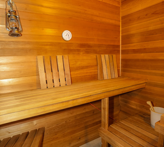 Beautiful Wood Lines a Sauna
